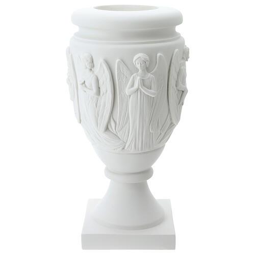 Vaso portafiori marmo sintetico Angeli e Cristo 5
