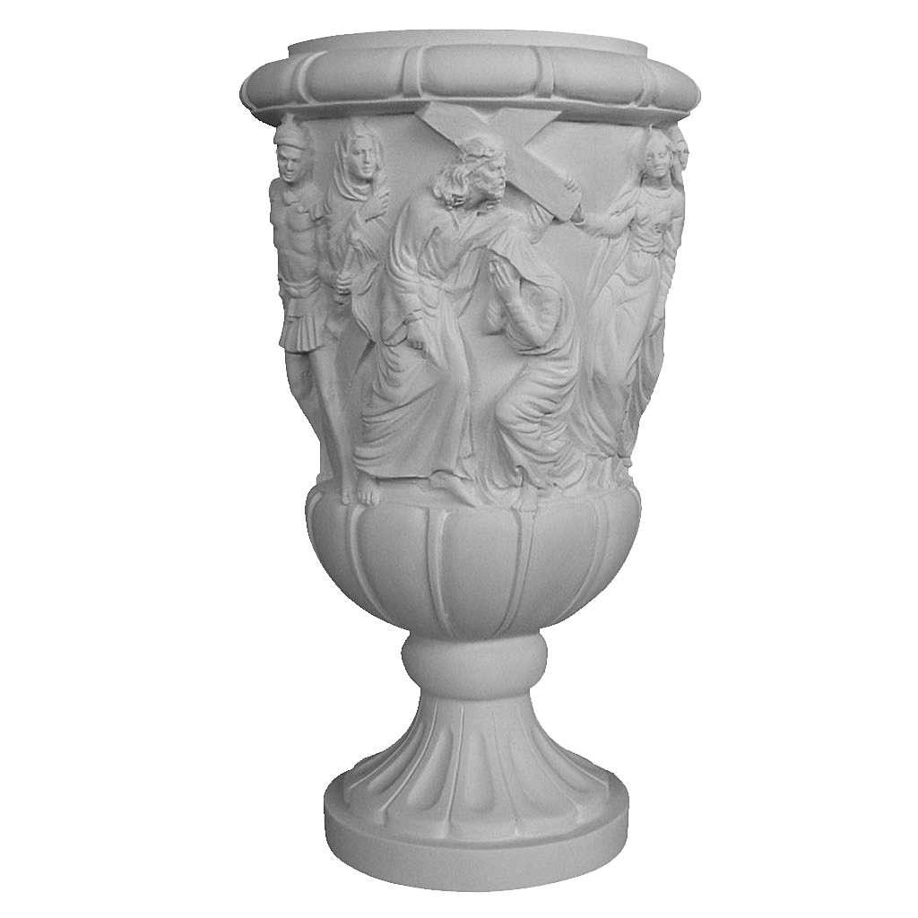 Vaso portafiori marmo ricostituito Cristo porta croce 3