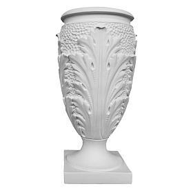 Vaso portafiori marmo ricostituito foglie s1