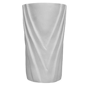 Flower vase in reconstituted marble s1