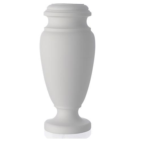 Vaso portafiori per cimitero marmo sintetico 1