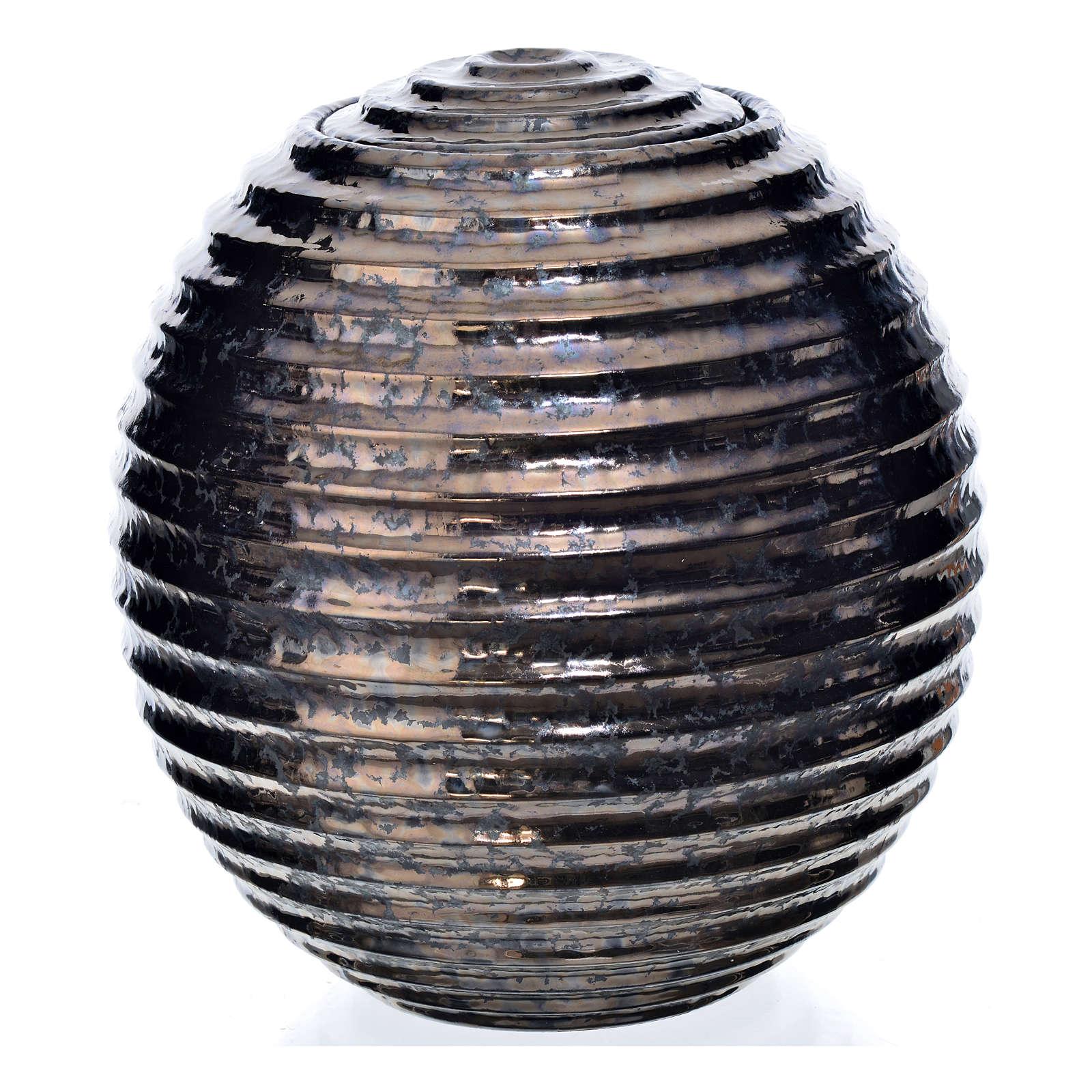 Urne funéraire porcelaine peinte à main type bronze 3
