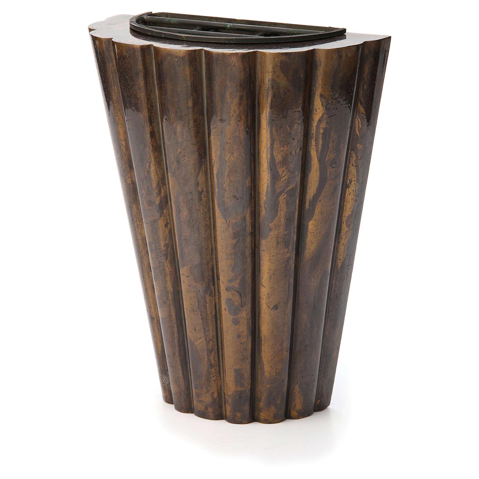 Flower vase bronzed brass, striped 3