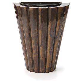 Flower vase bronzed brass, striped s1