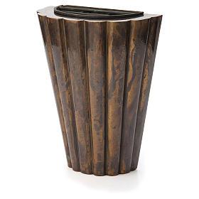 Flower vase bronzed brass, striped s2