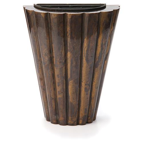 Flower vase bronzed brass, striped 1