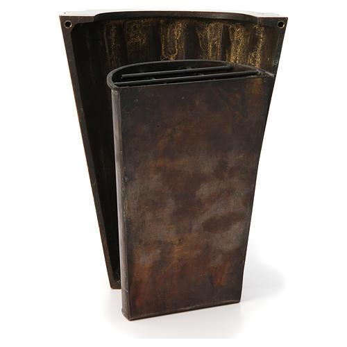 Flower vase bronzed brass, striped 4