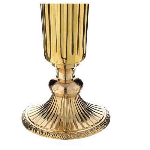 Flower vase chiseled brass 60cm 2