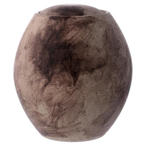 Urna funeraria con decoro pietra 1