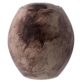 Urna funerária com decoração pedra s1