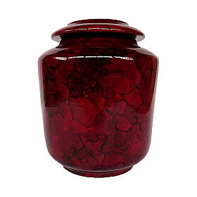 Urn with wine red Bubble effect s1