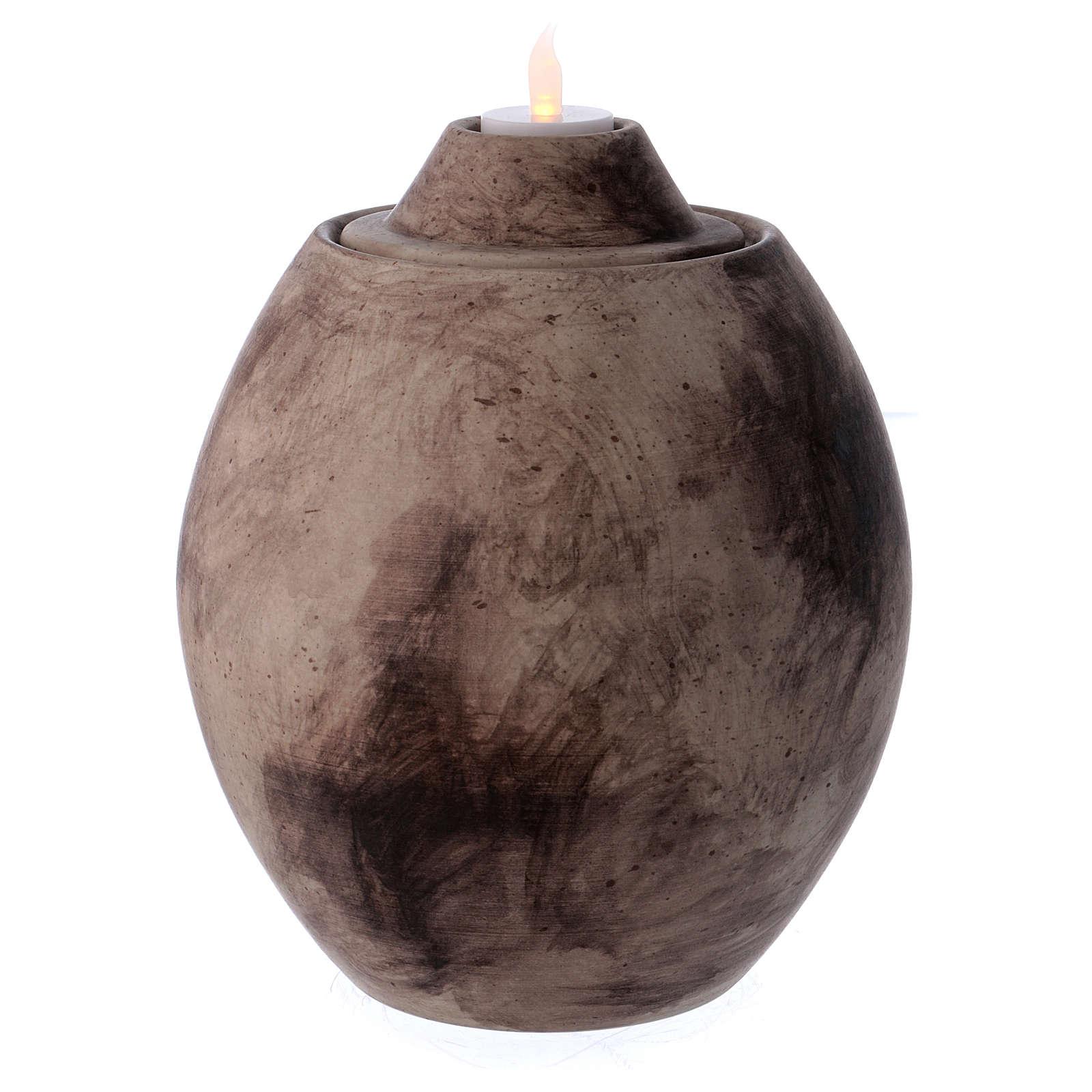 Urna funeraria in ceramica con decoro Pietra 3
