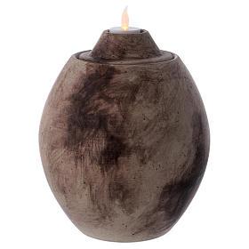 Urna funeraria in ceramica con decoro Pietra s1