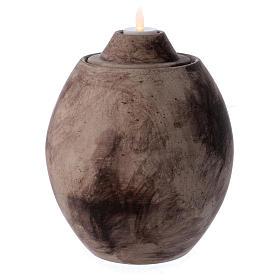 Urna funeraria in ceramica con decoro Pietra s2