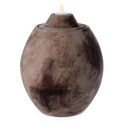 Urna funeraria in ceramica con decoro Pietra 2