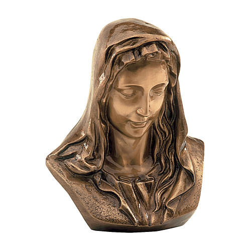 Targa Madonna addolorata bronzo 30x30 cm per ESTERNO