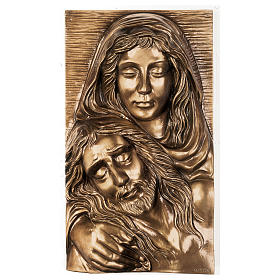Plaque with close-up of the Pietà in bronze 50x30 cm for EXTERNAL USE s1