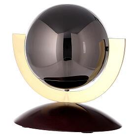 Urna cineraria Ovación base caoba esfera gris s1