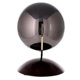 Urna cineraria Ovación base caoba esfera gris s3