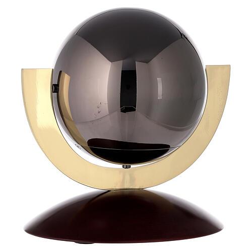 Urna cineraria Ovación base caoba esfera gris 4