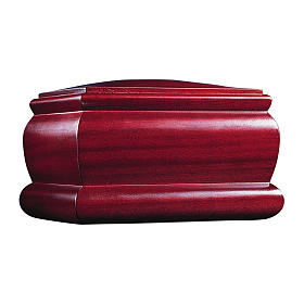 Casket funeral urn in mahogany s1
