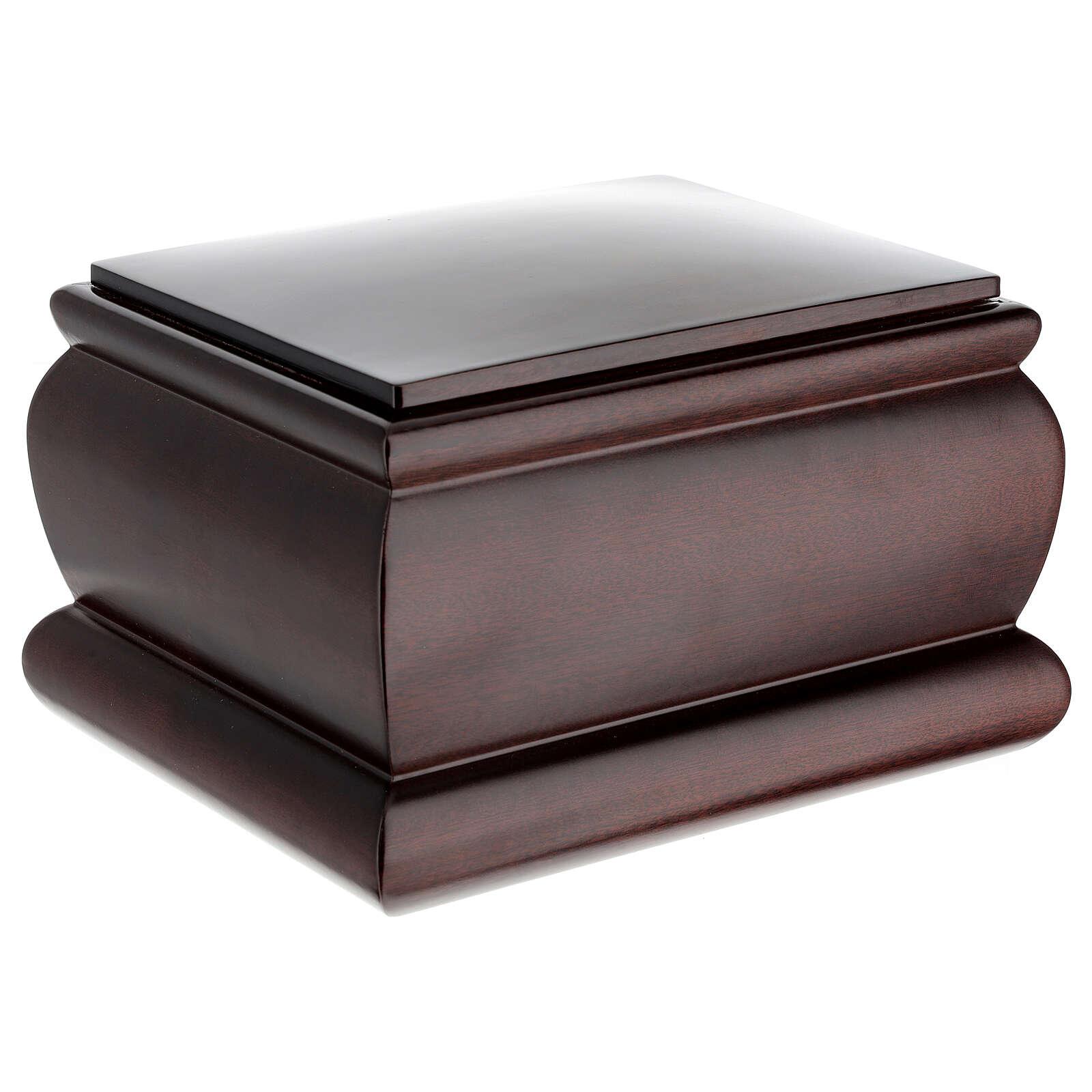 Urna funeraria Cofre caoba barnizada 3