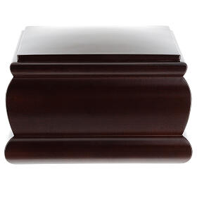 Urna funeraria Cofre caoba barnizada s1