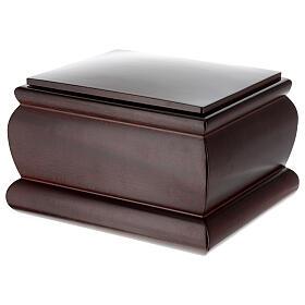 Urna funeraria Cofre caoba barnizada s2