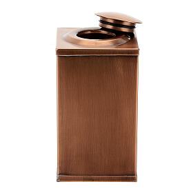 Temple funeral urn in wood and copper suitable for containing 2 urns s10
