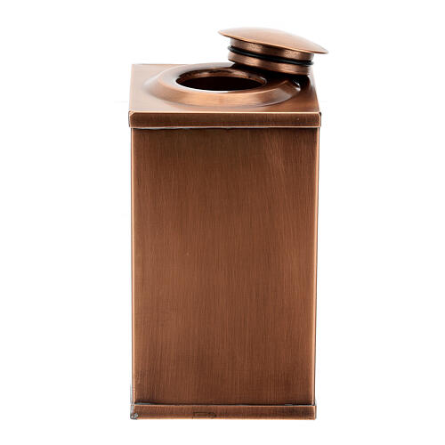 Temple cremation urn, in varnished mahogany for 2 urns 10