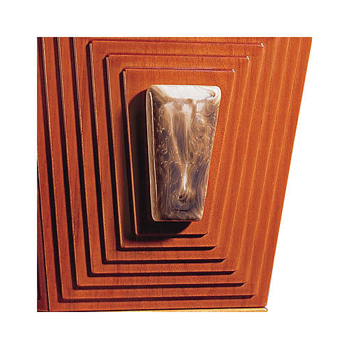 Joser Pyramid funeral urn in wood and Bassano ceramic 2