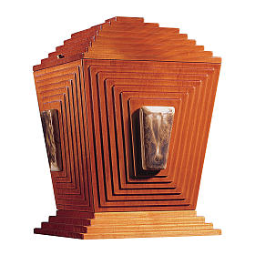 Urna cineraria Pirámide de Joser madera y cerámica de Bassano s1