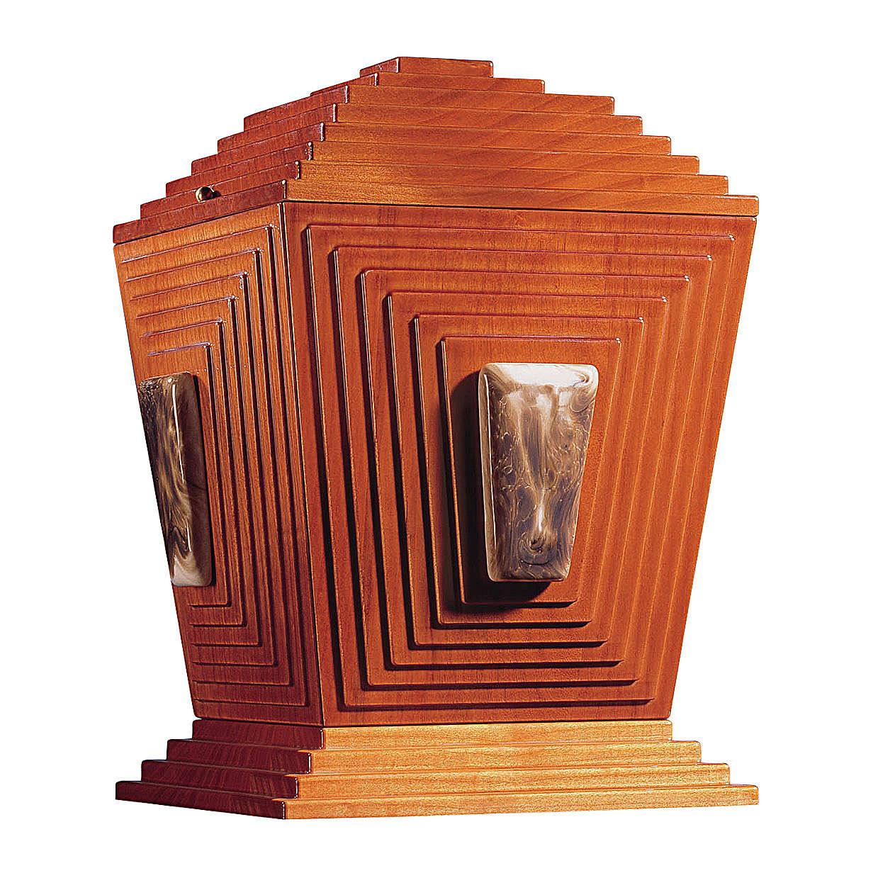 Urne cinéraire Pyramide de Djéser bois et céramique de Bassano 3
