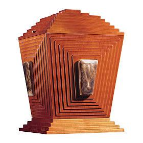 Urne cinéraire Pyramide de Djéser bois et céramique de Bassano s1