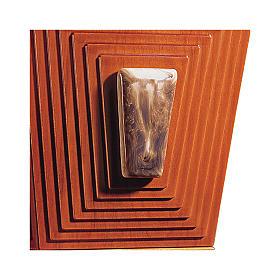 Urne cinéraire Pyramide de Djéser bois et céramique de Bassano s2