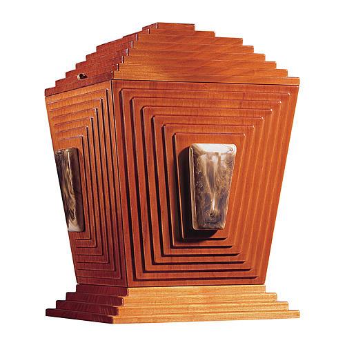 Urne cinéraire Pyramide de Djéser bois et céramique de Bassano 1