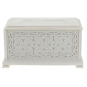 Urna cineraria Renaissance rectangular polvo mármol pulida s1