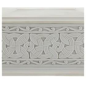 Urna cineraria Renaissance rectangular polvo mármol pulida s2