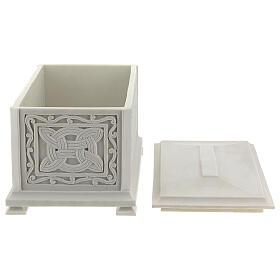 Urna cineraria Renaissance rectangular polvo mármol pulida s5