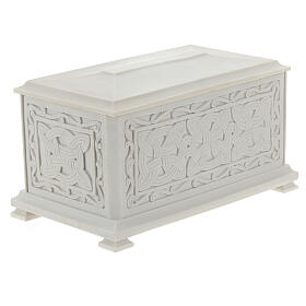 Urna cineraria Renaissance rectangular polvo mármol pulida s6
