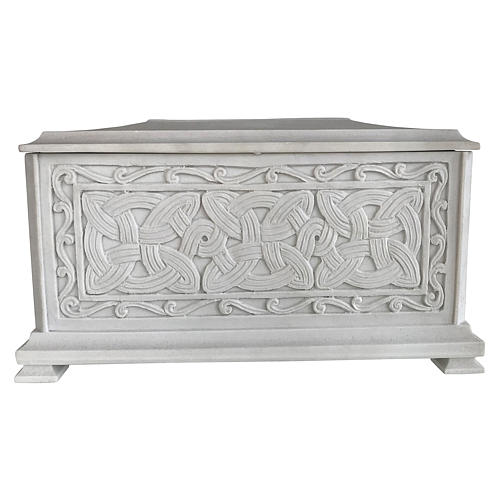 Urna cineraria Renaissance rectangular polvo mármol pulida 1
