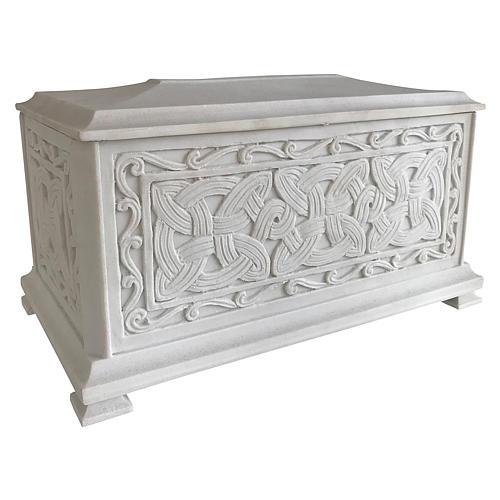 Urna cineraria Renaissance rectangular polvo mármol pulida 2