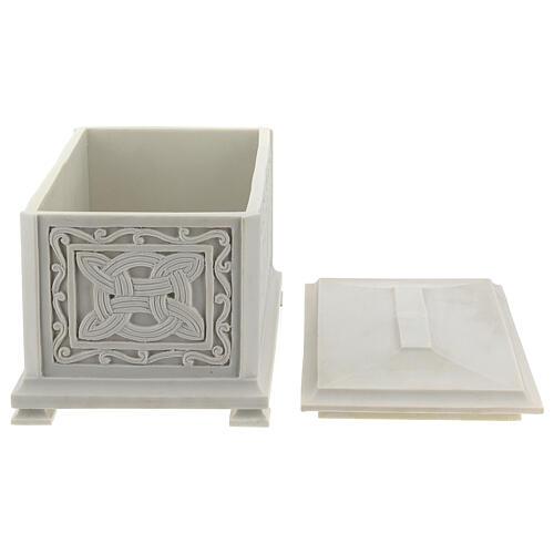 Urna cineraria Renaissance rectangular polvo mármol pulida 5