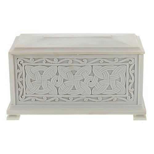 Urna cineraria Renaissance rectangular polvo mármol pulida 7