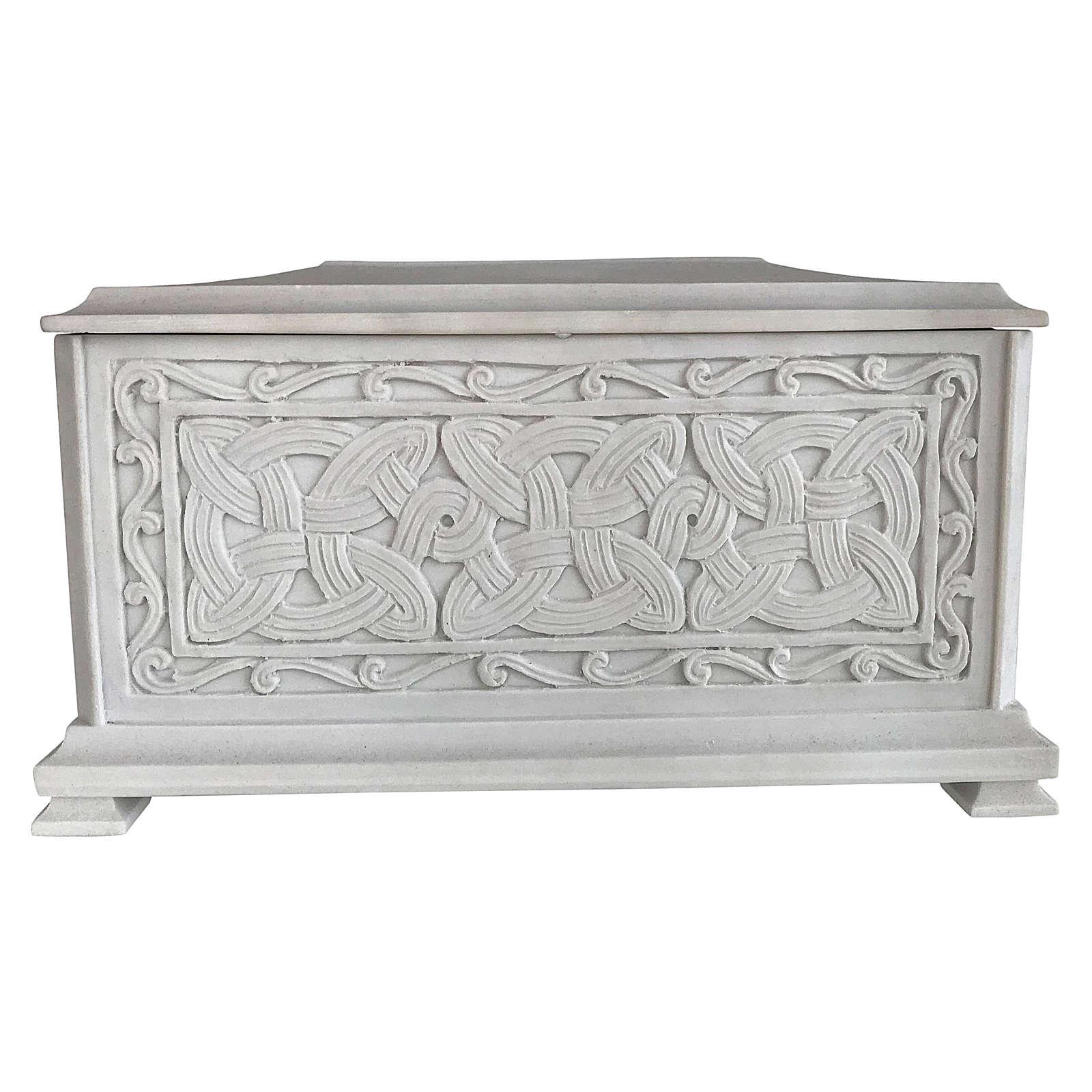 Urna funebre Renaissance rettangolare polvere marmo levigata 3