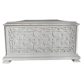 Urna funebre Renaissance rettangolare polvere marmo levigata s1