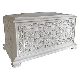 Urna funebre Renaissance rettangolare polvere marmo levigata s2