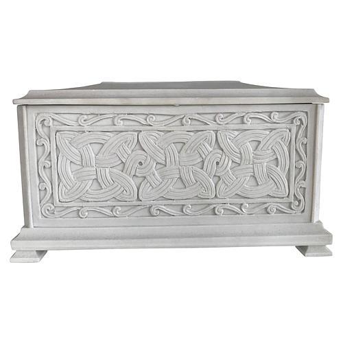Urna funebre Renaissance rettangolare polvere marmo levigata 1