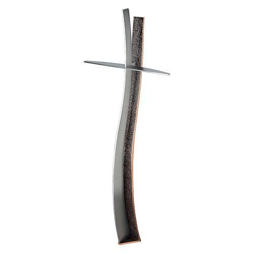 Croce in bronzo per cimitero h. 90 cm per ESTERNO 1