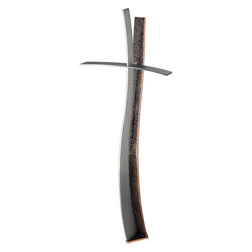 Croix pour pierre tombale en bronze h 90 cm pour EXTÉRIEUR 1